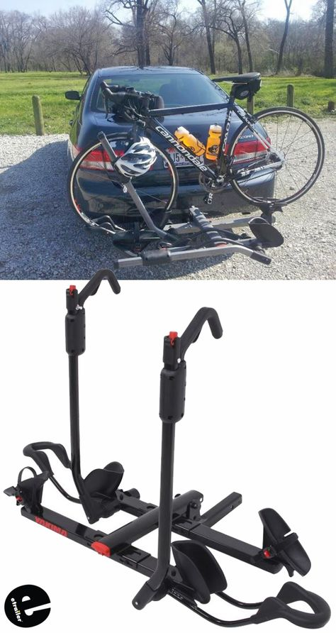 This Beefy Platform Style Hitch Rack With Ratcheting Hooks And