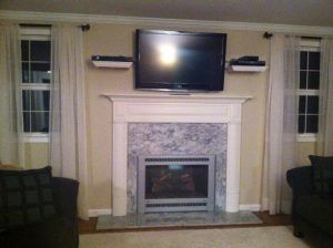 Latest Tv Above Fireplace Where To Put Cable Box Gallery