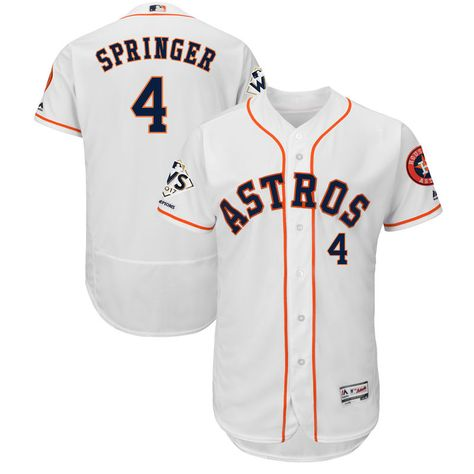 f9fd9877e George Springer Houston Astros Majestic 2017 World Series Champions Flex  Base Player Jersey – White