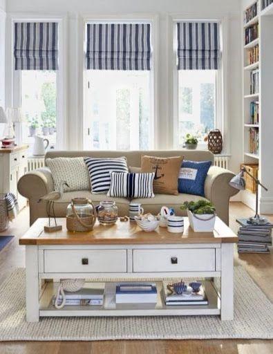 21 Nautical Living Room Decor Interior Design Ideas Coastal Style Living Room Nautical Decor Living Room Coastal Living Rooms