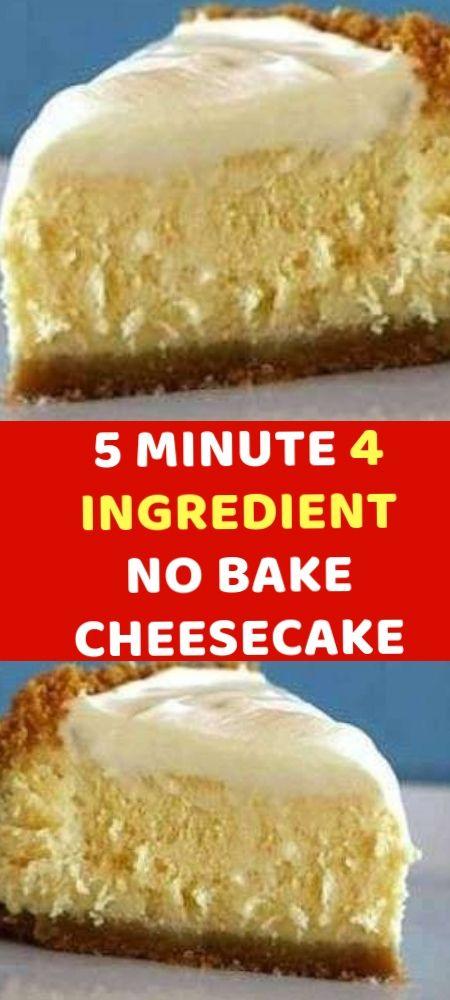 5 Minute 4 Ingredient No Bake Cheesecake Easy Cheesecake Recipes Milk Recipes Dessert Condensed Milk Recipes Desserts