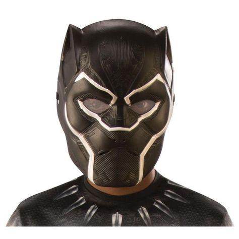 Child's Black Panther Half Mask