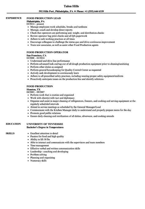 Food Production Worker Job Description Check More At Http Easybusinessposters Com Food Prod Food Service Worker Job Description Resume Template Examples