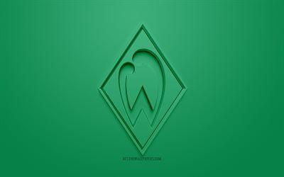Download Wallpapers Sv Werder Bremen Creative 3d Logo Green Background 3d Emblem German Football Club Bundesliga Bremen Germany 3d Art Football Stylis In 2020 Sv Werder Werder Bremen Bundesliga