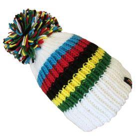 prix bas bien connu vente en magasin UCI White Rainbow Stripes | my style | Bobble hats, Black ...