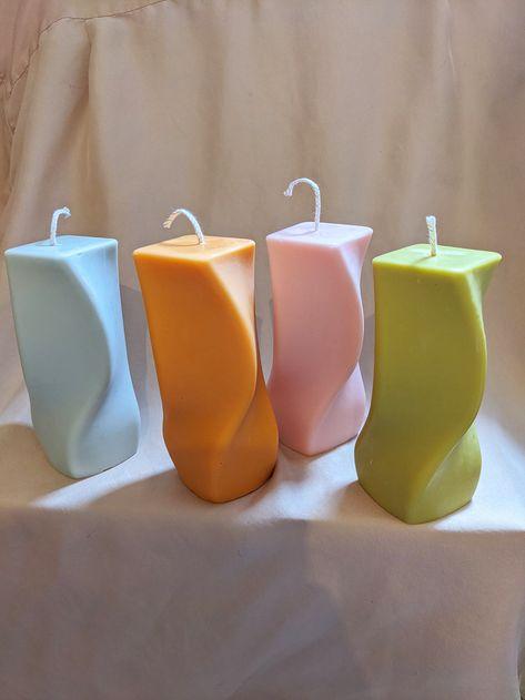 Cute Candles, Best Candles, Diy Candles, Pillar Candles, Design Candles, Unique Candles, Handmade Candles, Candle Art, Candle Sculpture