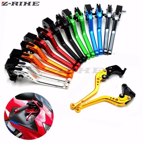 CNC Short Motorcycle Brake and Clutch Levers for Yamaha YZF R6 1999-2004,YZF R1 2002-2003,FZ1 FAZER 2001-2005,R6S US Version 2006-2009,R6S CANADA Version 2007-2009-Blue