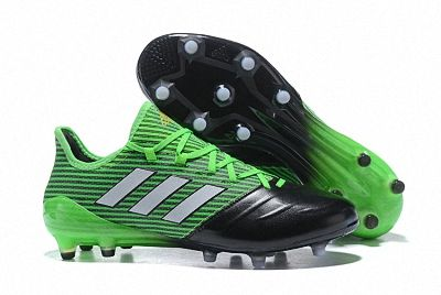 2018 Fifa World Cup Men Adidas Ace 17 1 Leather Fg Football Boots Green Black White Football Boots Cheap Football Boots White Adidas