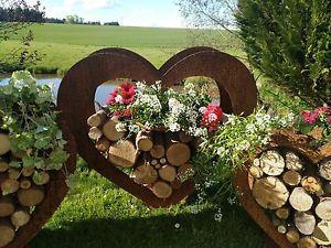 Herz Aus Metall Holz Regal Edel Rost Garten Terrasse Deko Riesig Ebay Garten Garten Terrasse Deko