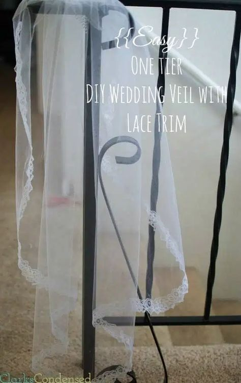 How to make a wedding veil tutorial / DIY Wedding veil / DIY Bridal Veil / DIY Lace wedding veil #diyweddingveil #diywedding