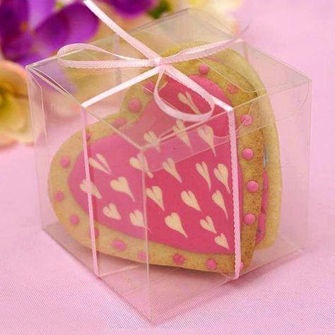 25 Pcs 3 X3 Clear Party Favor Boxes Wedding Favor Boxes