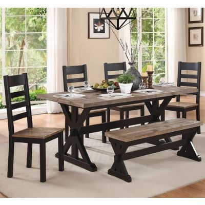 Northport 5045 72 Dining Tables Rectangle Two Tone Finish Of