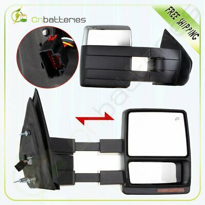 Details About For 07 14 F150 Chrome Power Heated Puddle Turn Signal Side Towing Mirrors Pair In 2020 Towing Mirrors F150 Towing Mirror