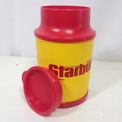 Starburst Candy Insulated Cup Mug Lid Yellow Red Soft Can Cooler Beverage Beach