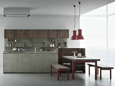 LINE K Kitchen with island by Zampieri Cucine design Stefano ...