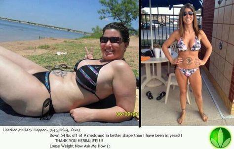 Down 54 pounds, off 9 meds
