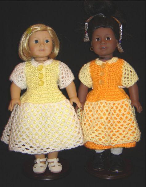 "Bizzy Crochet: Lacey Celebration Dress- 18"" Doll Clothes Pattern"