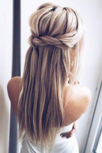 Cute Straight Hairstyles For Long Hair Lange Haare Hochzeitsfrisuren Frisuren Langhaar
