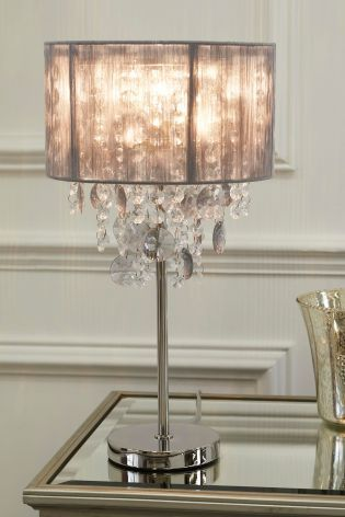 Chandelier Table Lamp Grey Lamps, Chandelier Table Lamp Shades Uk