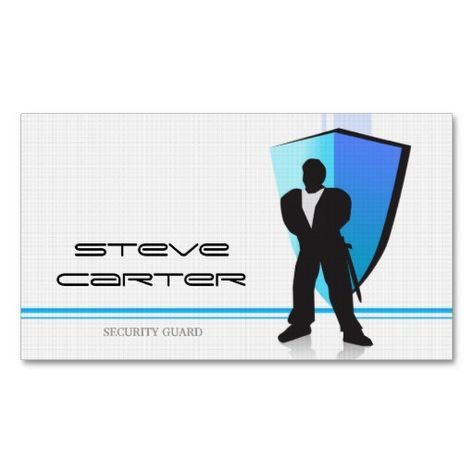 professional Security Guard Sentinel Watcher Card Business cards - guardian security guard sample resume