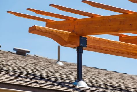 Image Result For Attach Pergola To Roof Outdoor Pergola Building A Pergola Pergola Canopy