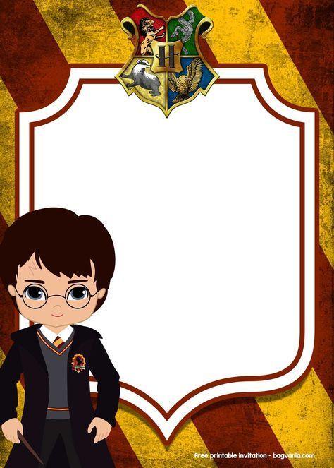 Free Printable Harry Potter Invitation Templates Em 2020 Com
