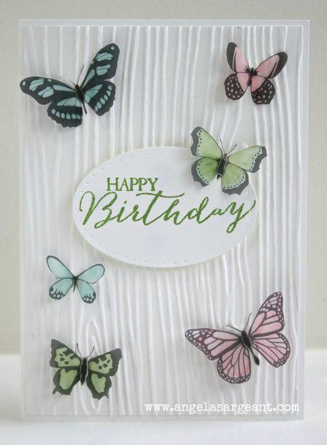 Make a pretty vellum Birthday Card