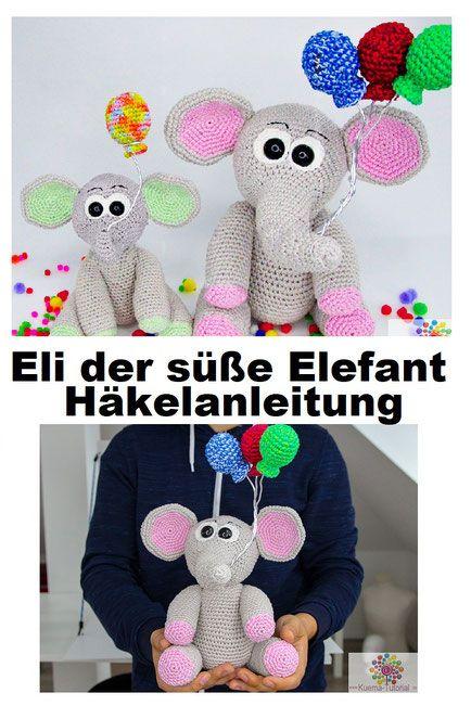 DIY-Anleitung: Amigurumi-Elefanten mit Hut und Ball selber häkeln ... | 651x434