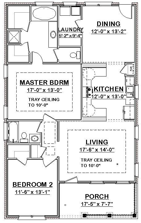 Custom Small House Home Build Plans 2 Bed Cottage 1406 Sf Pdf