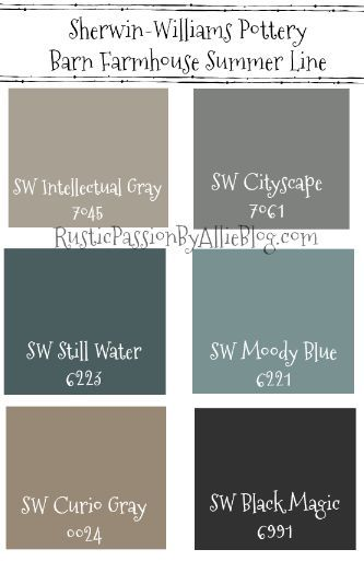Pottery Barn Sherwin Williams Farmhouse Neutral Paint Color Guide Paint Color Guide Pottery Barn Paint Pottery Barn