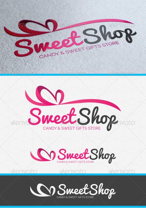 Buy Sweet Shop Heart Logo Template by GilleDeVille on GraphicRiver. Description A sweet laced shaped logo template suitable for any kind of sweets or gift shops.