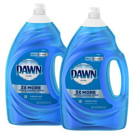 2 Pack Dawn Ultra Dishwashing Liquid Dish Soap Original Scent 56