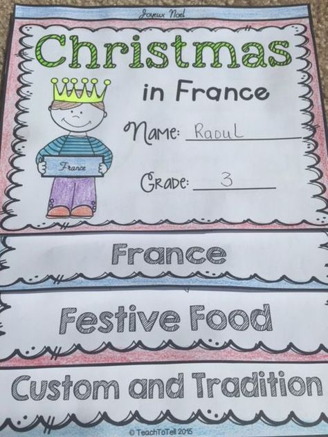 Christmas in France fact cards will take your students on a Scavenger Hunt for interesting facts on how Christmas is celebrated in France. Your students will have fun as they learn about the history, culture, custom, and tradition of Christmas festive celebrations in France. https://www.teacherspayteachers.com/Product/CHRISTMAS-CHRISTMAS-AROUND-THE-WORLD-FRANCE-2258258