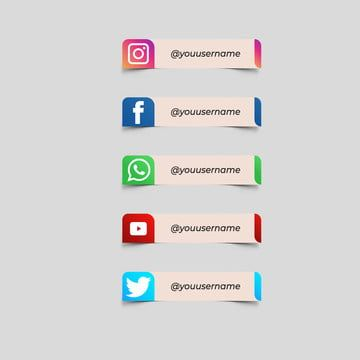 Facebook Twitter Instagram Youtube Label Banner Lower Third Google Global Information Connect Png And Vector With Transparent Background For Free Download Logotipo Do Youtube Rede Internet Icone Fb