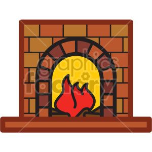 Fireplace Vector Icon Royalty Free Icon 407241 Royalty Free Icons Vector Icons Christmas Clipart