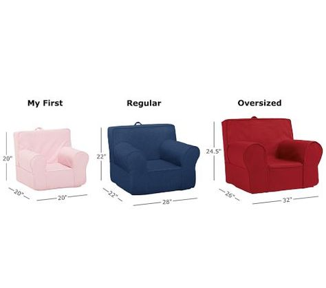 My First Anywhere Chair Replacement Slipcover Pottery