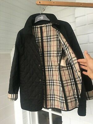 Ebay Ad Women S Burberry London Black Nova Check Quilted Jacket Sz Small Burberry London Quilted Jacket Jackets