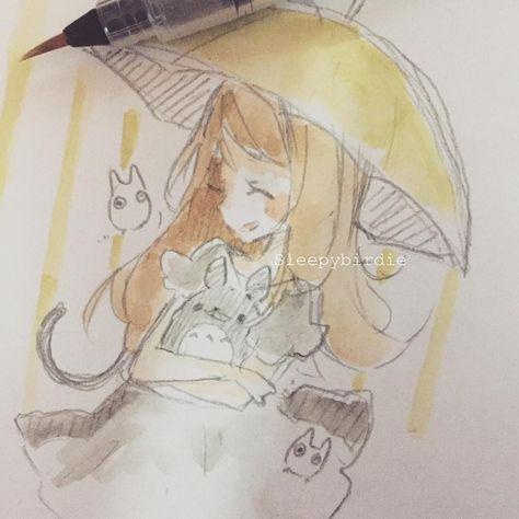 Totoro fan art request \(qwq)/