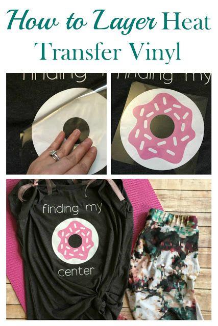 Layered Htv Donut Tee Cricut Heat Transfer Vinyl Cricut Projects Easy Cricut Vinyl