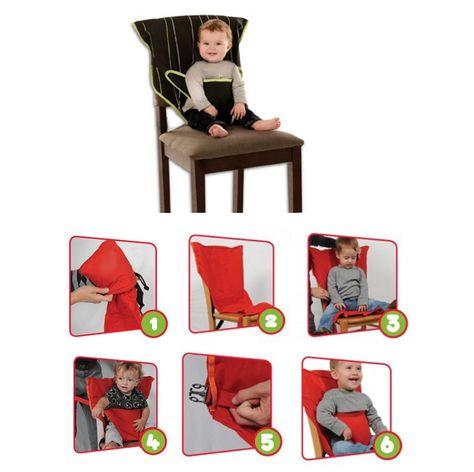 Chaise haute bébé | Chaise de voyage bébé pliable | Idéal pour manger dehors et…