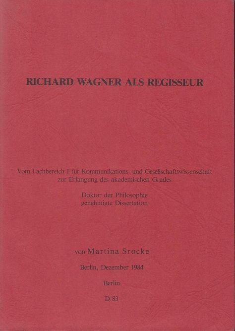 Zu Verkaufen Autorin Martina Srocke Titel Richard Wagner