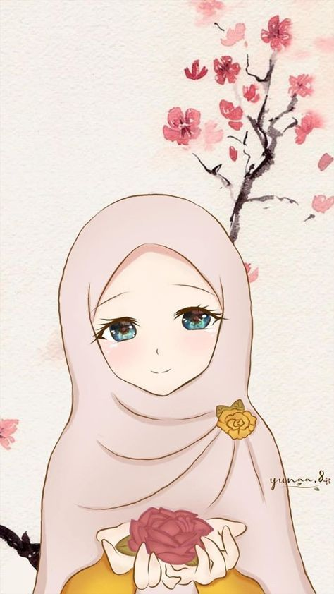 New Wall Paper Iphone Cartoon Kawaii Ideas Anime Muslimah Hijab Cartoon Anime Art Girl