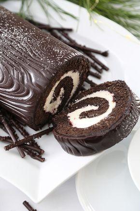 Black Forest Buche De Noel Yule Log Recipe Yule Log Cake Holiday Dessert Recipes