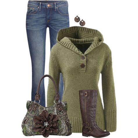 Minus the hideous camo bag! Winter Outfits, Casual Outfits, Cute Outfits, Fashion Outfits, Jean Outfits, Love Fashion, Womens Fashion, Fashion Design, Fashion Ideas