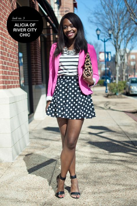 How to mix prints #theeverygirl (polka dots + stripes)
