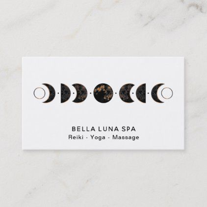 Lunar Cosmos Moon Phases Universe Shaman Business Card Zazzle Com Moon Phases Name Card Design Moon Phases Tattoo