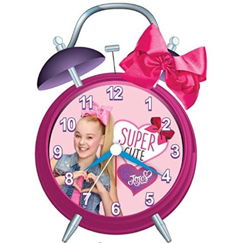 JoJo Siwa Alarm Clock Bell Alarm Girls Bedroom Clock Bow -- More info could be found at the image url. (This is an affiliate link)