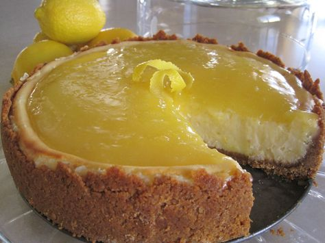 Lady Behind The Curtain - Lemon-Glazed Cheesecake
