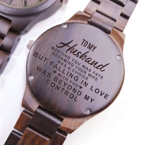 Description:   The ultimate gift for any man in your life who loves unique and personalized watches. Each wooden watch is engraved to your exact specifications whether it's a monogram or memorable line from a movie.Each watch comes complete with a gift-ready watch box. #giftforhusband #engravedwoodenwatch #personalizedengravedwatch #woodenwatch  #bestgift #perfectgift  #memorablegift  #Birthdaygift #graduationgift #anniversarygift  #watchformen #watchforwomen #idealgift #giftforanyoccasion