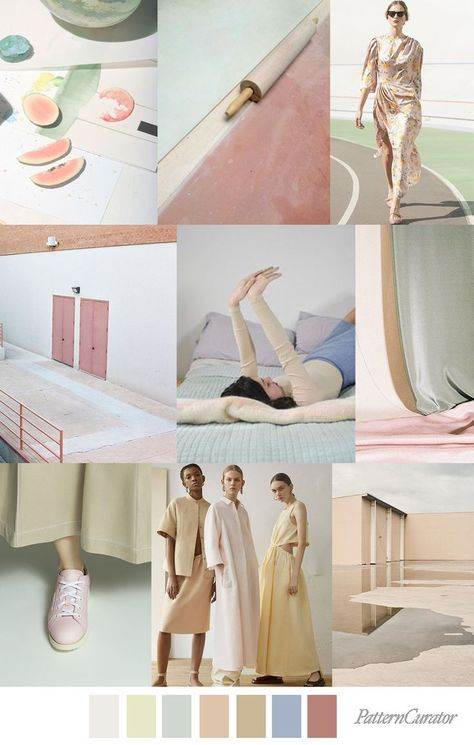 PASTEL NEUTRALS - color, print & pattern trend inspiration for SS 2020 ...